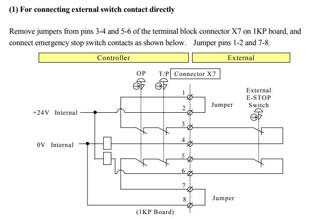 Kawasaki emergency stop wiring - Technical questions - RobotExchangeRobotExchange